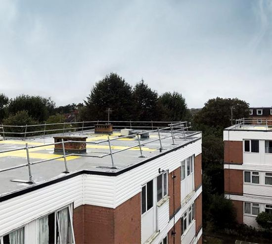 Riverbank, Staines warm roof refurbishment