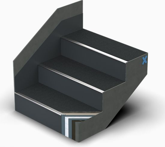 Triflex StairCoat Reinforced with Quartz Design small grain quartz