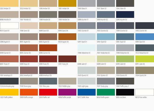 Triflex colour card