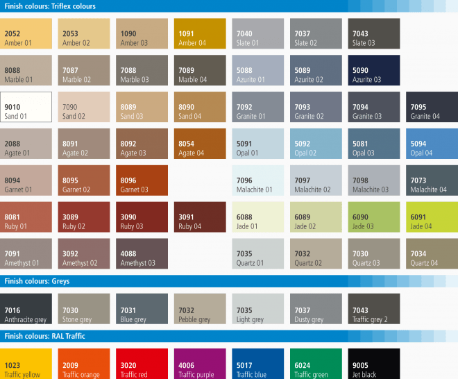 Triflex StairCoat colour card